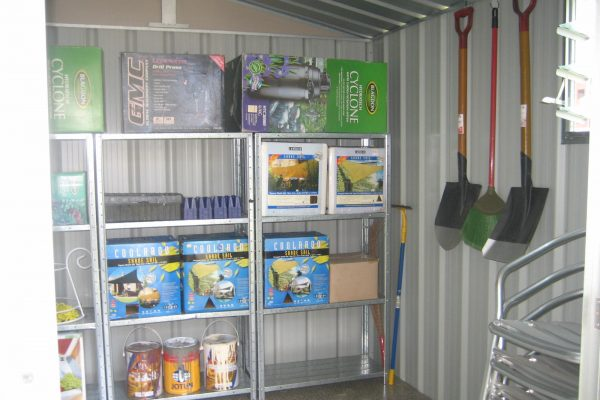 6. Inside of store with optional shelves